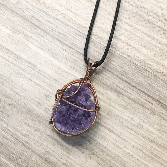 Hand Crafted Jewelry - 🌞BOG2FREE🌞 Handmade Amethyst Pendant Necklace